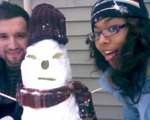 Me, Ishaq, Snowman